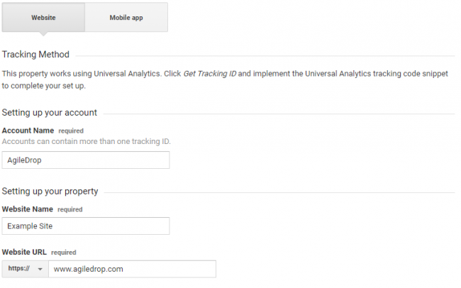 Google Analytics account