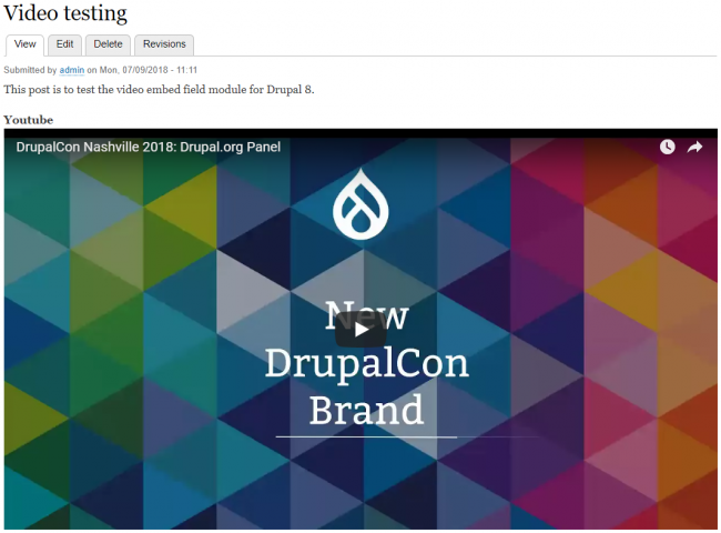 How to Embed Videos in Drupal 8