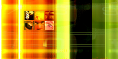 Colorful picture with 6 different images