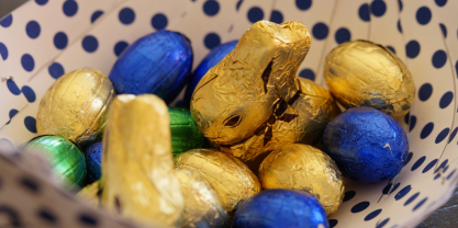 Chocolate Easter eggs and bunny