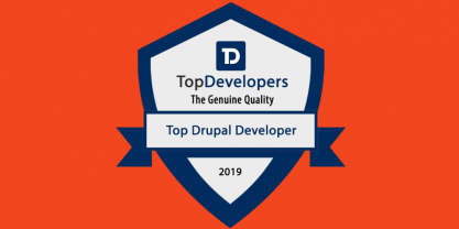 Top Drupal Developers 2019 badge edited