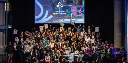 DrupalCon Amsterdam 2019 International Splash Awards group photo