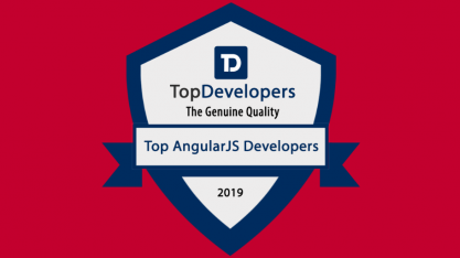 Agiledrop top Angular development company badge of recognition