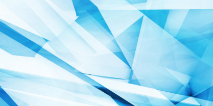 White and blue angular shapes