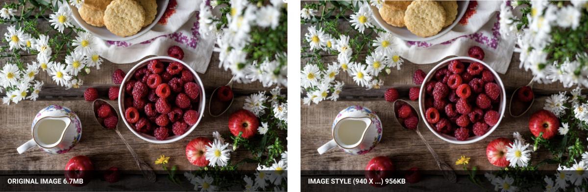 Image style 970 comparison
