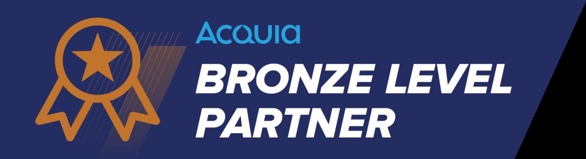 Acquia Bronze Level Partner Badge