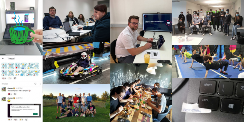 Agiledrop 2020 activities collage