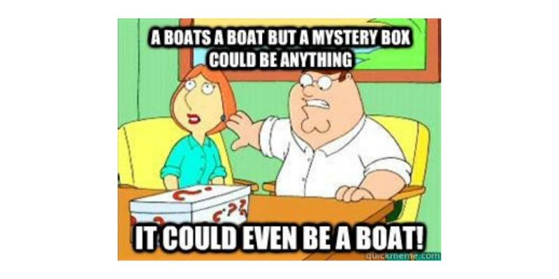 Family Guy mystery box joke